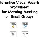 This is a worksheet that I use within my morning meeting where we do calendar, weather, and social skills every morning.   This allows students to ...