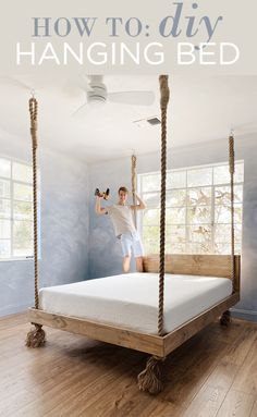 How to make your own DIY Hanging Bed!