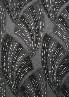 in 2 long frames? Black Novella Wallpaper ~ Art Decor Collection by Graham & Brown. This washable vinyl wallpaper is embellished with silver glitter which accentuates the bold fan pattern & is fitting to the Art Deco style. Wallpaper Art Deco, Of Wallpaper, Designer Wallpaper, Wallpaper Designs, Brown Wallpaper, Fashion Wallpaper, Painting Wallpaper, Motif Art Deco, Art Deco Design