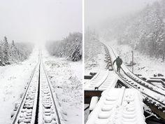 Snowing on the cog railway, Mount Washington, New Hampshire New Hampshire, Stonewall Farm, White Mountain National Forest, New England States, Mount Washington, White Mountains, Covered Bridges, Winter White, Farm Life