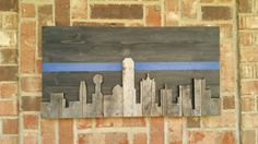 Check out this item in my Etsy shop https://www.etsy.com/listing/514580385/dallas-skyline-thin-blue-line