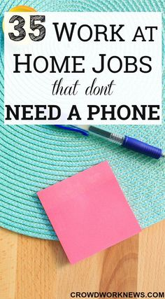 Are you looking for work at home jobs which don't require being on phone? Check out this BIG list of legitimate work at home companies which offer non phone positions. #workfromhome #money #job