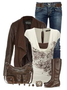 Dark Brown Fall Winter Outfit Combination