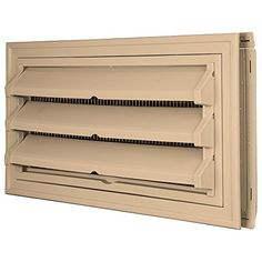 Builders Edge 140036419045 Foundation Vent Kit - Trim Ring and Fixed Louver option (Galvanized Screen) 045, Sandstone Maple -- Details can be found by clicking on the image. (This is an affiliate link) #RoofShinglesIdeas