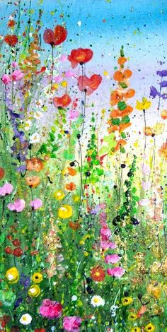 impressionist original painting abstract floral flower framed mixed media wild art Original Floral Painting Wild Flower Painting Abstract Floral Art Impressionist Floral Framed FYou can find Wild flowers and more on our website Arte Floral, Floral Wall, Abstract Flower Art, Painting Abstract, Acrylic Artwork, Mixed Media Painting, Abstract Styles, Watercolor Flowers, Painting Flowers