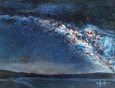 The Milky way by Randy Roberts Acrylic ~ 11 x 14