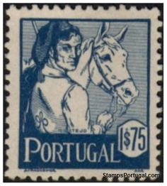 Selos - Afinsa nr 615 - Scott nr 613 - RIBATEJO - COSTUMES DE PORTUGAL 1940.