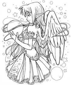 Gothic Fairies Coloring Pages
