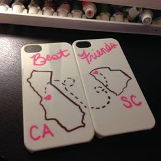 Best Friends different States iphone 4/4s 5/5s cases! on Etsy, $18.00 I need this!!