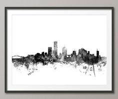 Milwaukee Skyline Milwaukee Wisconsin Cityscape Art by artPause