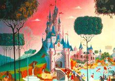 "Euro Disney  Fantasyland  ""Le Chateau de la Belle au Bois Dormant"" (Castle of the Sleeping Beauty in the Wood)   - - - - - - -   Attract..."
