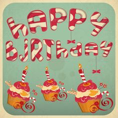 happy birthday vector font - Google Search