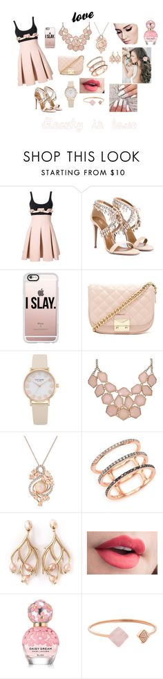 """""""unknown #4"""" by nava-105 ❤ liked on Polyvore featuring David Koma, Aquazzura, Casetify, Forever 21, LE VIAN, EF Collection, Shaun Leane, Marc Jacobs and Michael Kors"""