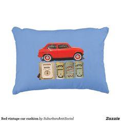 Red vintage car cushion