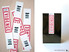 """Set Design: """"Evidence"""" Gift Bag"""