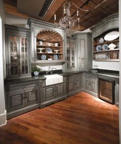 French Country kitchen, Habersham Home Old World Kitchens, Home Kitchens, Dream Kitchens, Country Kitchens, French Kitchen, Kitchen And Bath, Open Kitchen, Rustic Kitchen, Butler Pantry