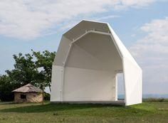 martin feiersinger open air stage koenigsbrunn austria designboom