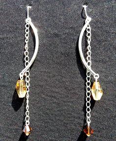 Swarovski Crystals Earrings , by IrisJewelryCreations on Etsy