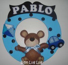 enfeite em mdf e feltro Pablo
