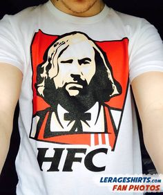 Game of Thrones T-Shirt saying HFC Hound Fried Chicken. Inspired by Sandor Clegane a.k.a. The Hound.