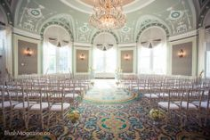 Amanda & Daryl's Fairmont Hotel Macdonald Edmonton Wedding: Ceremony Setup