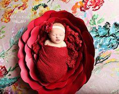 Newborn Photo Prop, Large Flower