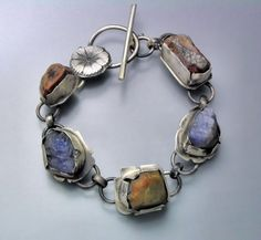 Natural Crystal Bracelet 4. By Temi Kucinski on etsy.com. Handmade Sterling silver and natural crystals.
