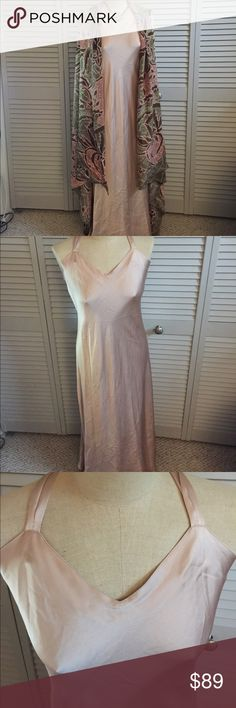 Said 5th Avenue 100% Silk Nightgown w/Silk Wrap Stunning and sexy 100% silk nightgown and silk wrap from Saks 5th Avenue.  This will make you feel beautiful and sexy for any special occasion.  Just lovely and in good condition. Saks Fifth Avenue Intimates & Sleepwear Chemises & Slips