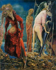 Max Ernstマックス・エルンスト(1891ー1976)「L'Antipape(反教皇主義者)」(1941-42 シュールレアリスム)
