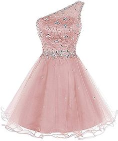 Lily Wedding Juniors Aline One Prom Dress 2018 Short Tulle Party Dress Mini Cute Short Dresses, Pretty Prom Dresses, Lace Homecoming Dresses, Beaded Prom Dress, Ball Gown Dresses, Prom Party Dresses, Pageant Dresses, Dance Dresses, Beautiful Dresses