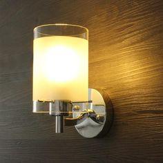 #BangGood - #Eachine1 Modern Simple Glass Single Head Wall Lamp Sconce Light Fitting Walkway Indoor Lighting - AdoreWe.com