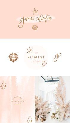 Branding design for a modern, feminine, bohemian, free-spirited shop and lifestyle brand by Brighten Screen Design, Drops Design, Creative Studio, Boho Chic, Design 3d, Brand Design, Design Ideas, Diy Blog, Fashion Branding