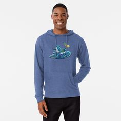 Starry Nite Whale 373. Lightweight Hoodie Designed and sold by sana90