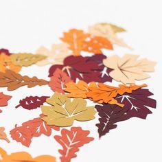 Foglia d'autunno tabella coriandoli  autunno di rosieplustheboys