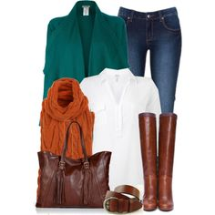 """""""Teal and Amber"""" by chelseagirlfashion on Polyvore"""
