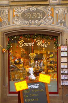 Bonne Mie shop in France - Love these quaint store fronts!  ASPEN CREEK TRAVEL - karen@aspencreektravel.com
