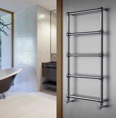 Caleido heeft in hun collectie niet alleen radiatoren maar dus ook handdoekwarmers. Toegegeven, wij wisten niet dat ze bestonden maar we zien er wel meteen de charme van in.