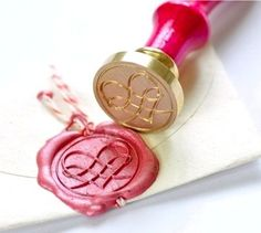 Filigree Heart Gold Plated Wax Seal Stamp & Sealing Wax