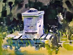 """Daily Paintworks - """"Bee Hive"""" - Original Fine Art for Sale - © Spencer  Meagher"""