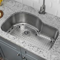 Look for a 18 Gauge Stainless Steel x Undermount Kitchen Sink with Arc Faucet Best Kitchen Sinks, Apron Sink Kitchen, Double Bowl Kitchen Sink, Farmhouse Sink Kitchen, Undermount Stainless Steel Sink, Undermount Sink, Stainless Steel Kitchen, Kitchen Bath Collection, Cooking
