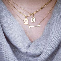 I love these initials paired together! Also available in silver! www.stelladot.com/cecille