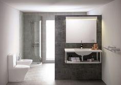 Cuarto de baño con decoración minimalista y funcional de Bathco