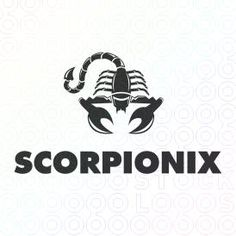 Insect Logo Design of a black scorpion For Sale On StockLogos | Scropionix logo