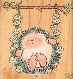 hedgehog rubber stamps   eBay