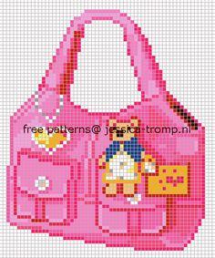 Handbag hama beads