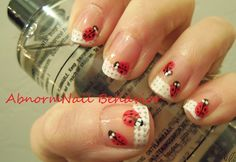 Abnorm Nail Behavior: Lady Bug French Tips