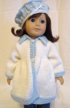 Jacket and Beret Hat Set American Girl Doll by PreciousBowtique
