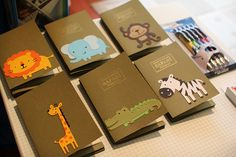 Safari Passports for the guests - LOVE IT!