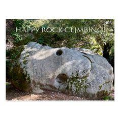HAPPY ROCK CLIMBING! Postcard   hiking clothes, alabama hiking, hiking shirts women #hikinglife #hikinginireland #hikingsouthafrica Santa Cruz Mountains, Happy Rock, Tips Fitness, Hiking Quotes, Hiking Gifts, Camping Coffee, Rock Climbing, Horseback Riding, Postcard Size
