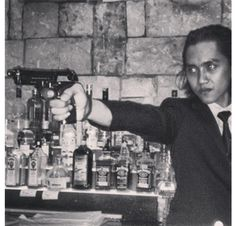 Barman competition based on movie themes 2013   Guess what movie part he was acting out ?